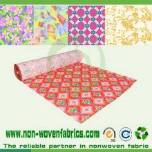 Tela no tejida impresa de los PP para la cubierta de colchón