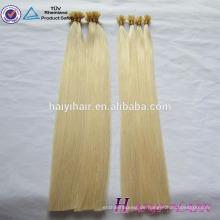 6A, 7A, 8A 100% Menschenhaarqualität populäres preiswertes en gros 0.5 / 0.8 / 1.0g 8a Grad reines russisches Haar ich tippe blondes