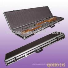 arredondado caso de rifle de alumínio com espuma dentro da alta qualidade fábrica de China