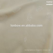 Rose patterned satin lining fabric for cloth
