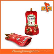 Bico de água embalagem de líquidos prova, saco de bico de plástico para embalagem de doce de tomate