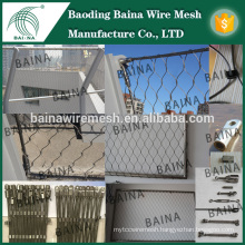 hand woven stainless steel flexible rope fence/bird netting wire mesh made in china