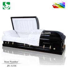 Photo de cercueil en bois frêne bois massif professionnel vente chaude
