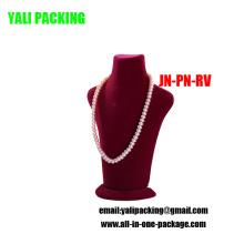 Rose Flock Cubierto Collar de plástico Display Venta al por mayor (JN-PN-RV)