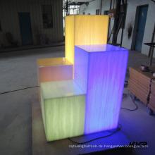 LED Licht Pass Dekoration Säule Und Mode Shop Dekoration Translucent Harz Blätter