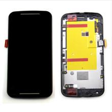Venta al por mayor de piezas de teléfonos móviles para Motorola Moto G2 pantalla táctil LCD con marco