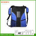 2016 fashionable hiking solar bag pack with solar charger 2000mah battery for students