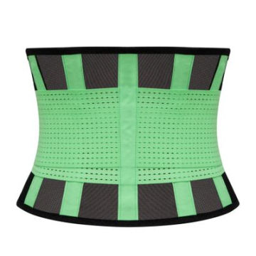 High Quality Ventilated Mesh Design Back Belt 4 Step Shape Tummy Waist Cincher Trimmer Belt Private Label Women