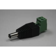 Grün L Typ mit Schraube 12V 5.5 / 2.1mm Stecker und Buchse DC Stromanschluss
