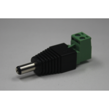 Verde Tipo L con tornillo 12V 5.5 / 2.1mm macho y hembra Conector de alimentación de CC