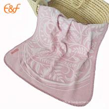 Atacado Baby Handmade Softest Pink Woven Throw Blanket