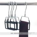 Giratorio de metal gancho pantalla cubierto plástico corbata bufanda perchas