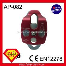 Certificação móvel CE EN12278 Escalada Corda grande 16mm Polia dupla de alumínio