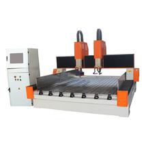 Máquina de roteadores CNC de gravura de pedra de eixo duplo