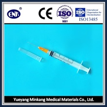 Jeringas Médicas Desechables, con Aguja (2.5ml), Luer Slip, con Ce & ISO Aprobado