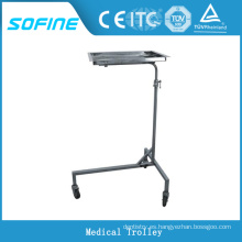 SF-DJ141 hospital ues carrito médico de acero inoxidable con ruedas