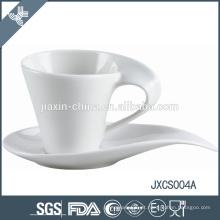 2015 nova 100CC porcelana xícara de café e pires, design antigo copo e pires, conjunto de xícara de café