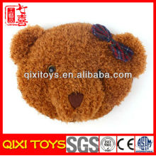 nouveau type mignon et doux tête d'ours en peluche chaud oreiller