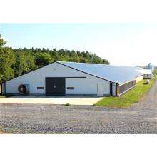 Maison en acier galvanisée préfabriquée de volaille de cadre de revêtement (KXD-SSW1746)