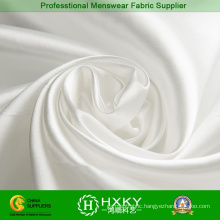 White Color Bright Satin Fabric for Evening Dress