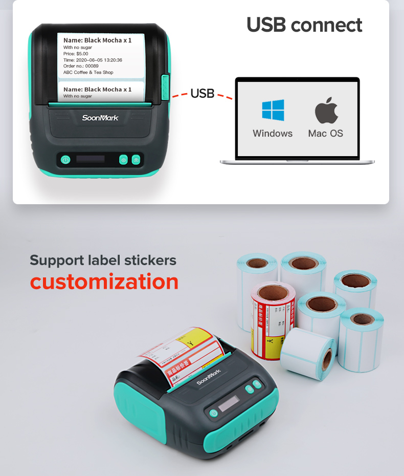 wireless handheld Barcode Label Printer