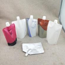 Boquilla-bolsa de plástico con tapa de sellado reutilizable de tamaño personalizado