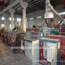 Wood plastic flooring machine
