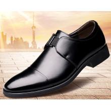 Chaussures habillées pour hommes Sharp Toe Genuine Leather Casual Low-Cut Formal