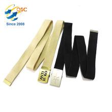 Cinturón de lona de color sólido de bajo costo de suministro de fábrica