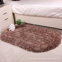100% Polyester Plush Springiness+Silk Shaggy Plain Carpet
