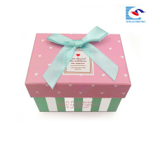 hot selling new product custom rectangle gift box for children with bow tie