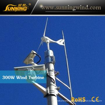300W Wind Turbine Solar Hybrid CCTV-System (MINI 400W)
