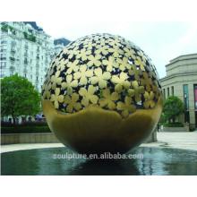 Большой Современный Художественный Абстрактный Сфера нержавеющей стали Скульптура для украшения сада
