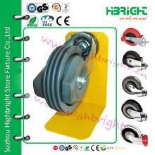 fixed and swivel caster wheel