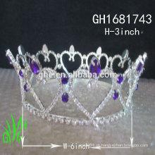 Novos designs rhinestone royal accessories wholesale tallant crown tiara de coroa