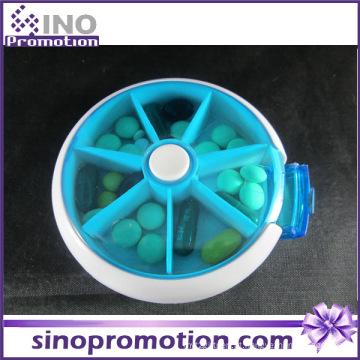 Custom Design 7 Dias Decorativas Plásticas Slide Pill Boxes
