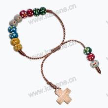 Pflaumenblüten-Holzperlenschnur-Knüpfer-religiöses Armband
