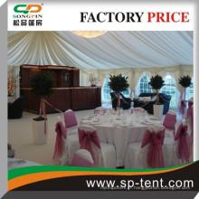 Cadre pvc marqueterie 300 personnes tente 20x25m en cadre en aluminium durable et tissu en PVC pour les événements de mariage en plein air