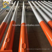 Poste de luz ao ar livre de aço galvanizado por imersão a quente