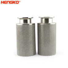 HENGKO Sintered Porous metal  tube stainless steel  hydraulic pump filter can be used to filter oil  gasoline or air filter
