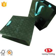 Sachet de cadeau de papier UV spot pour faire des achats de bijoux