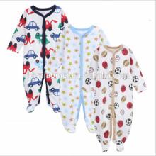 2017 милый младенческий малыша детская одежда хлопка мультфильм ребенка ползунки 3шт комплект новорожденный комбинезон зима носить