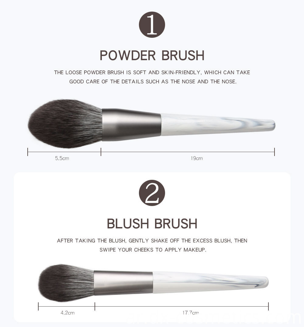 12 Piece Bunch Flower Makeup Brushes detail-1