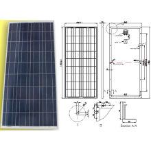 Polykristallines Sonnenkollektor-PV-Modul 18V 150W mit TUV ISO-Bescheinigung