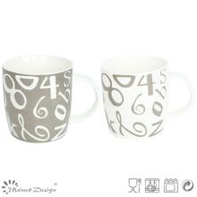 Classic Number Decal household New Bone China Mug