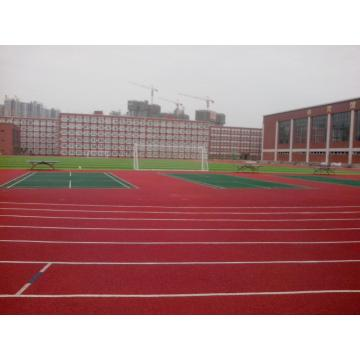 Courts adhésifs de liant de colle de polyuréthane portable Sports Surface Flooring Athletic Running Track