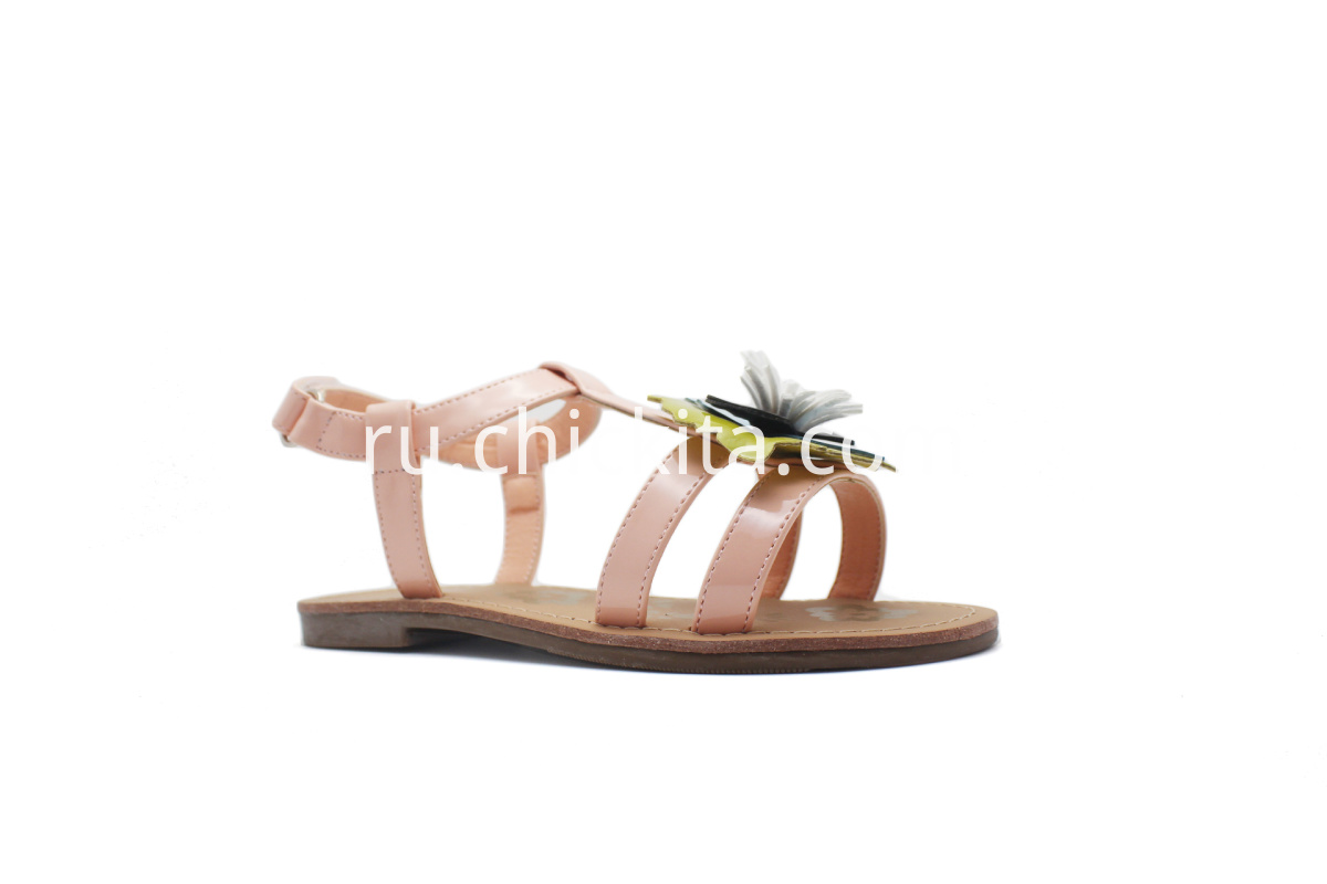 Lovely Children Flat Fashion Sandals with colorful flowers