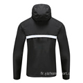 Hommes Soccer Wear Zip Up Hoodies Noir