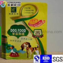 Пакетированный корм для домашних животных с ламинированной 3-сторонней упаковкой