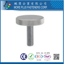 DIN653 Stainless Steel Knurled Thumb Screw Passivated